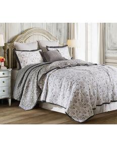HiEnd Accents 3-Piece Full/Queen Fleur De Lis Bedding Set, White, hi-res