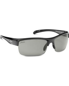 Hobie Men's Shiny Black Grey Rockpile Polarized Sunglasses , Black, hi-res