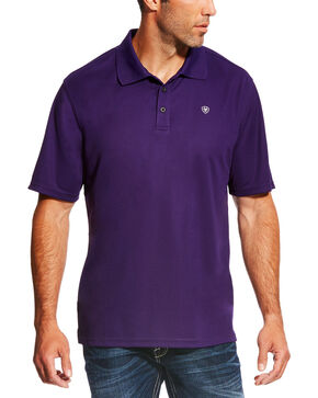 Ariat Men's TEK Short Sleeve Polo - Big & Tall , Purple, hi-res