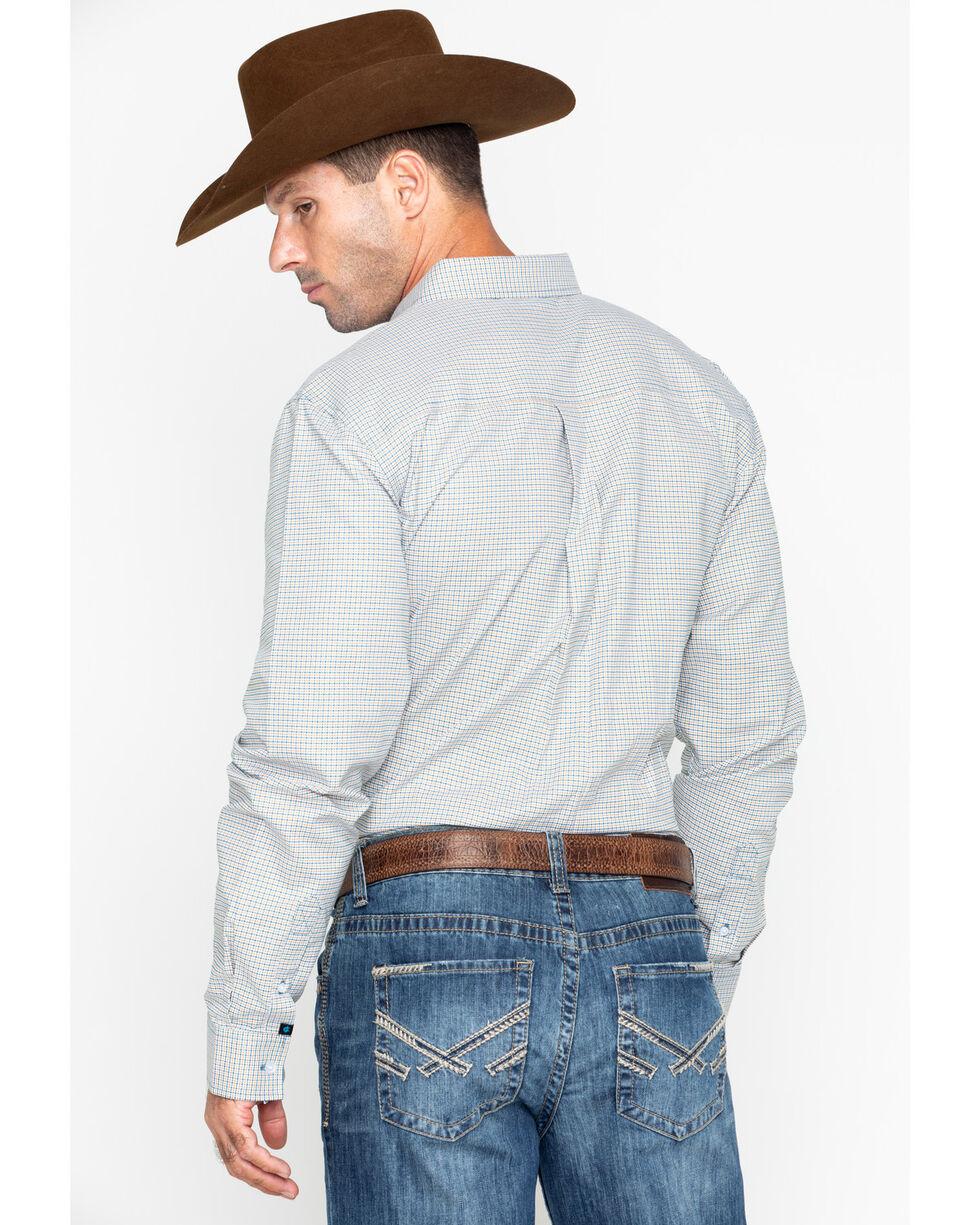 Cody Core Men's Woven Long Sleeve Fairweather Western Shirt , Navy, hi-res