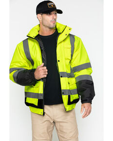 Hawx Men's 3-In-1 Bomber Work Jacket - Tall , Yellow, hi-res