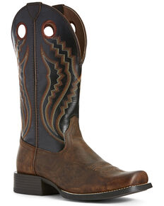 Ariat Men's Black Sport Picket Line Western Work Boots - Square Toe, Brown, hi-res