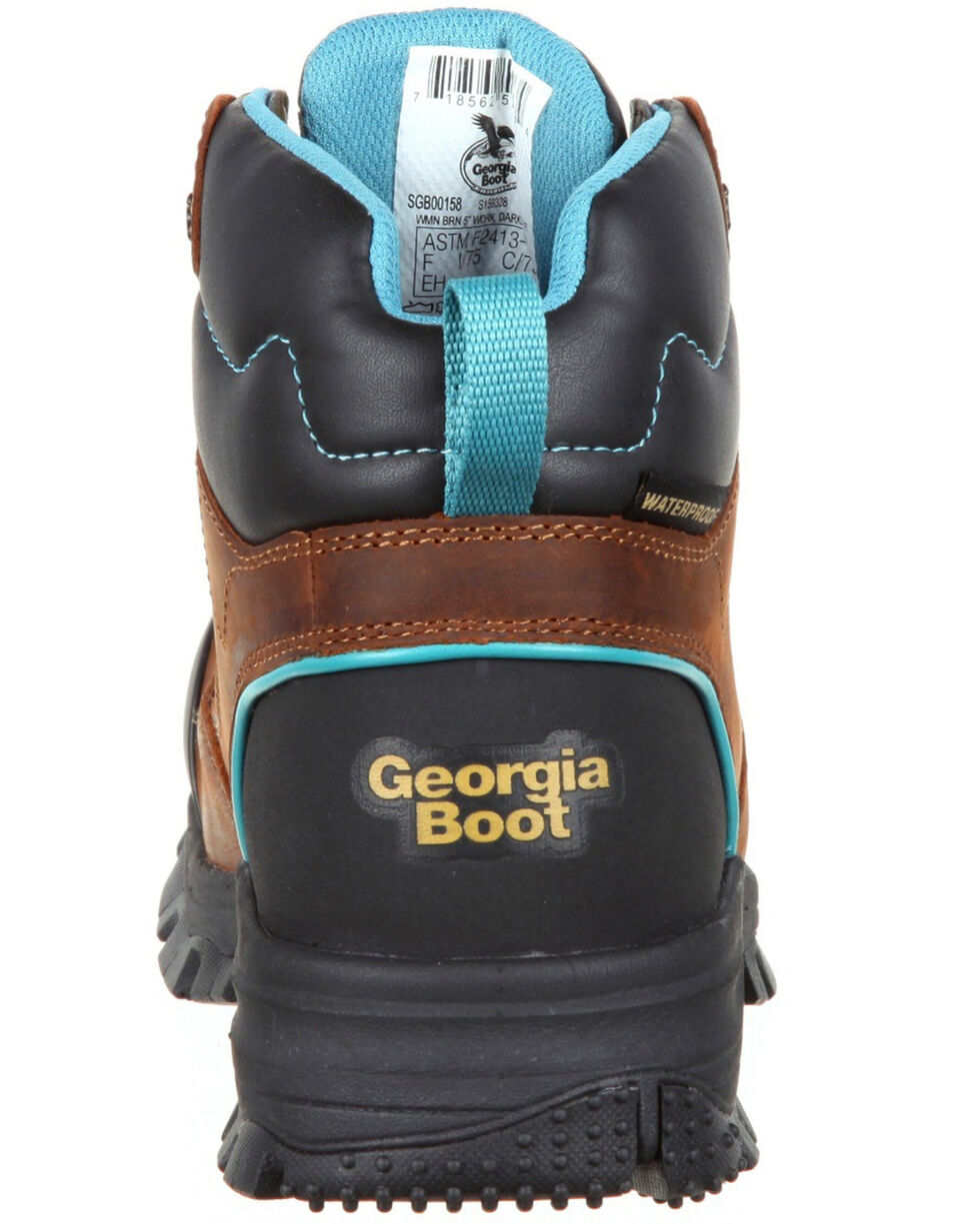 Georgia Boot Women's Blue Collar Waterproof Work Boots, Brown, hi-res