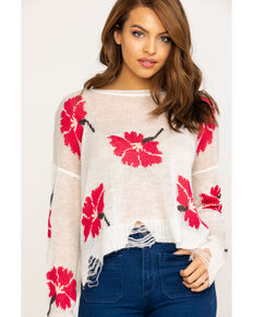 Show Me Your Mumu Women's Lovey Floral Knit Sweater, Multi, hi-res