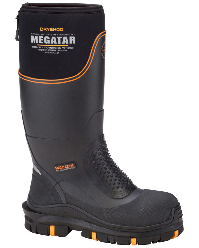 Dryshod Men's Megatar Met Guard Steel Toe Work Boots, Black, hi-res