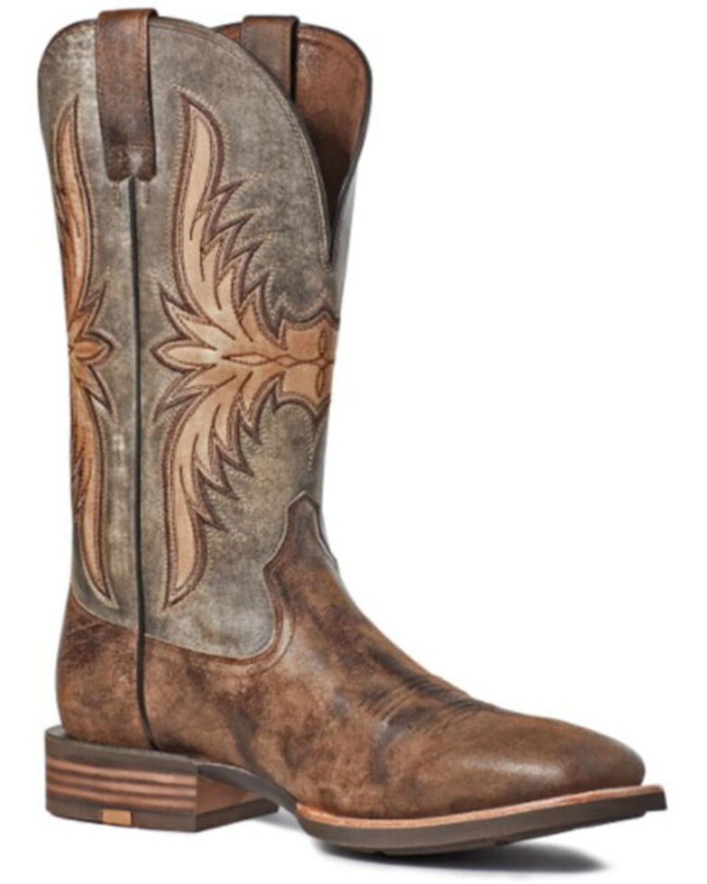 Ariat Men's Crosswire Western Boots - Square Toe, Brown, hi-res