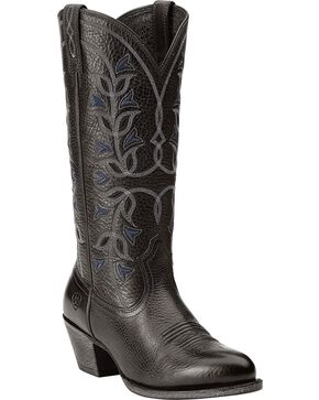 Ariat Desert Holly Cowgirl Boots - Round Toe, Black, hi-res