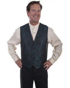 Rangewear by Scully Men's Teal Point Bottom Vest , Teal, hi-res