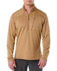 5.11 Tactical Men's Tan RECON Half - Zip Fleece Work Jacket , Tan, hi-res