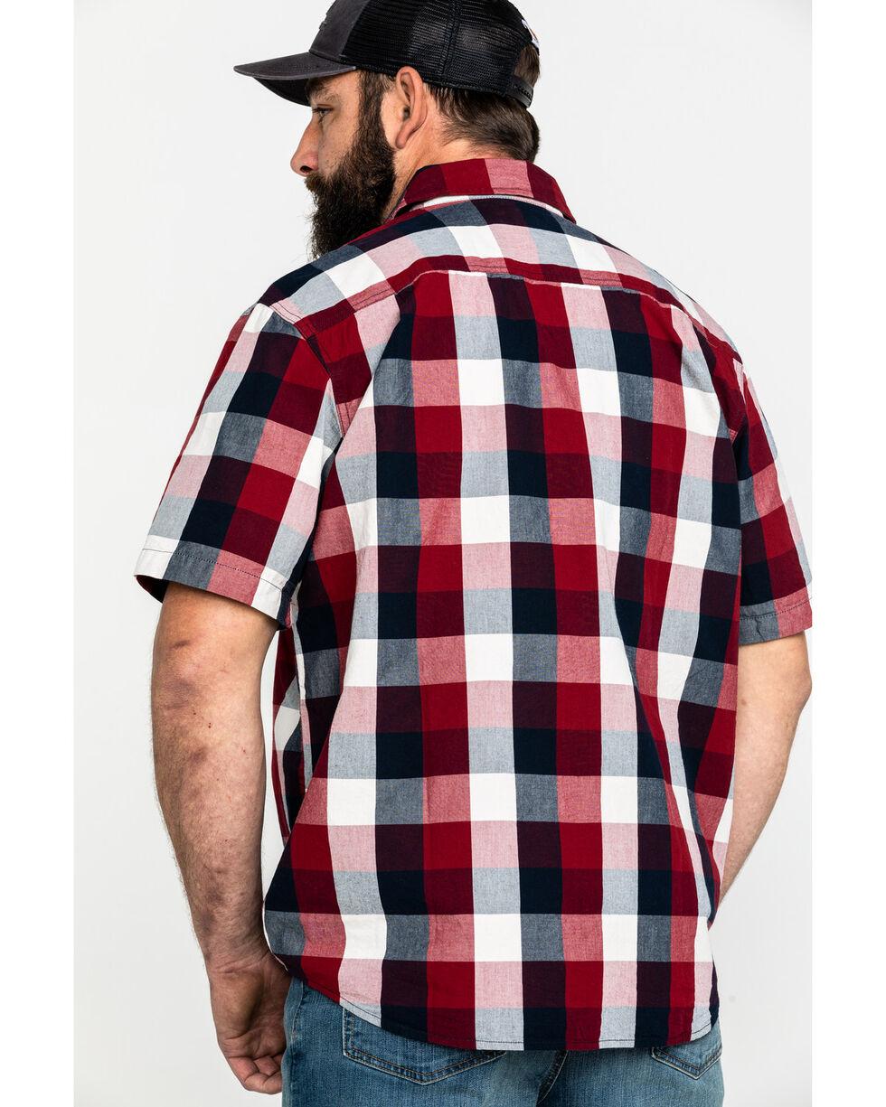 Carhartt Men's Red Essential Plaid Short Sleeve Work Shirt , Red, hi-res