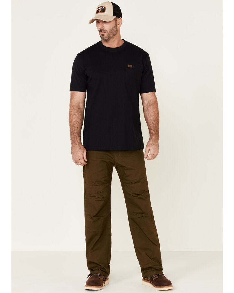 Hawx Men's Dark Olive Stretch Ripstop Work Pants , Olive, hi-res
