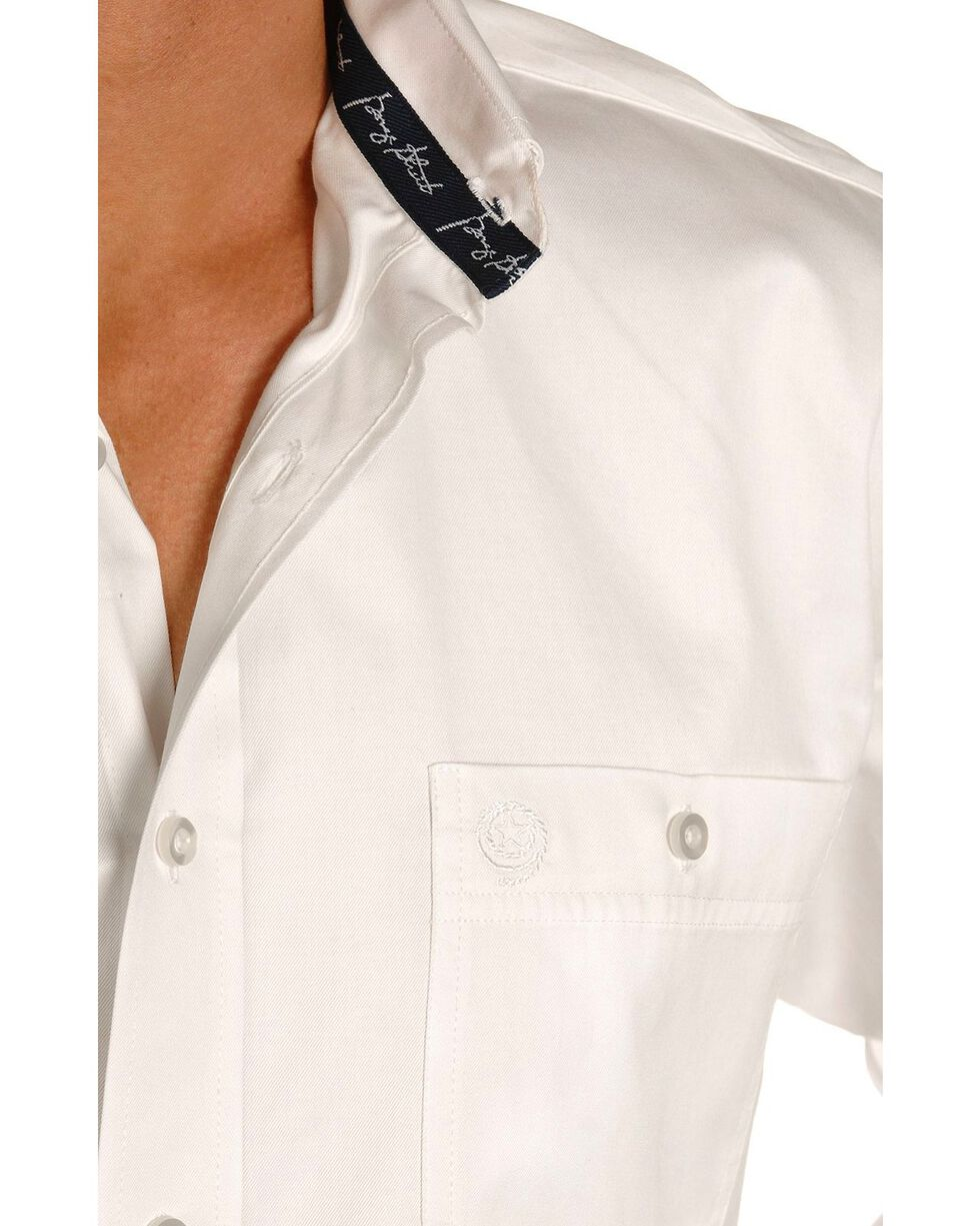 George Strait by Wrangler Men's Long Sleeve Western Shirt, White, hi-res