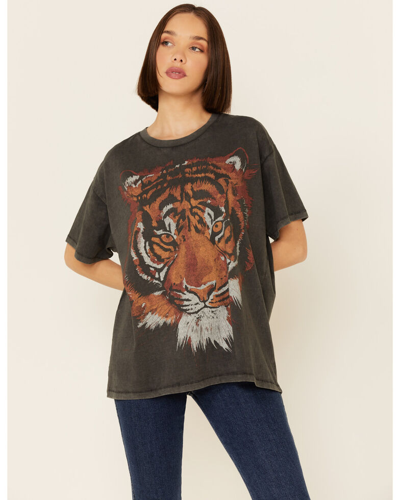 Wrangler Modern Women's Tiger Graphic Tee , Black, hi-res