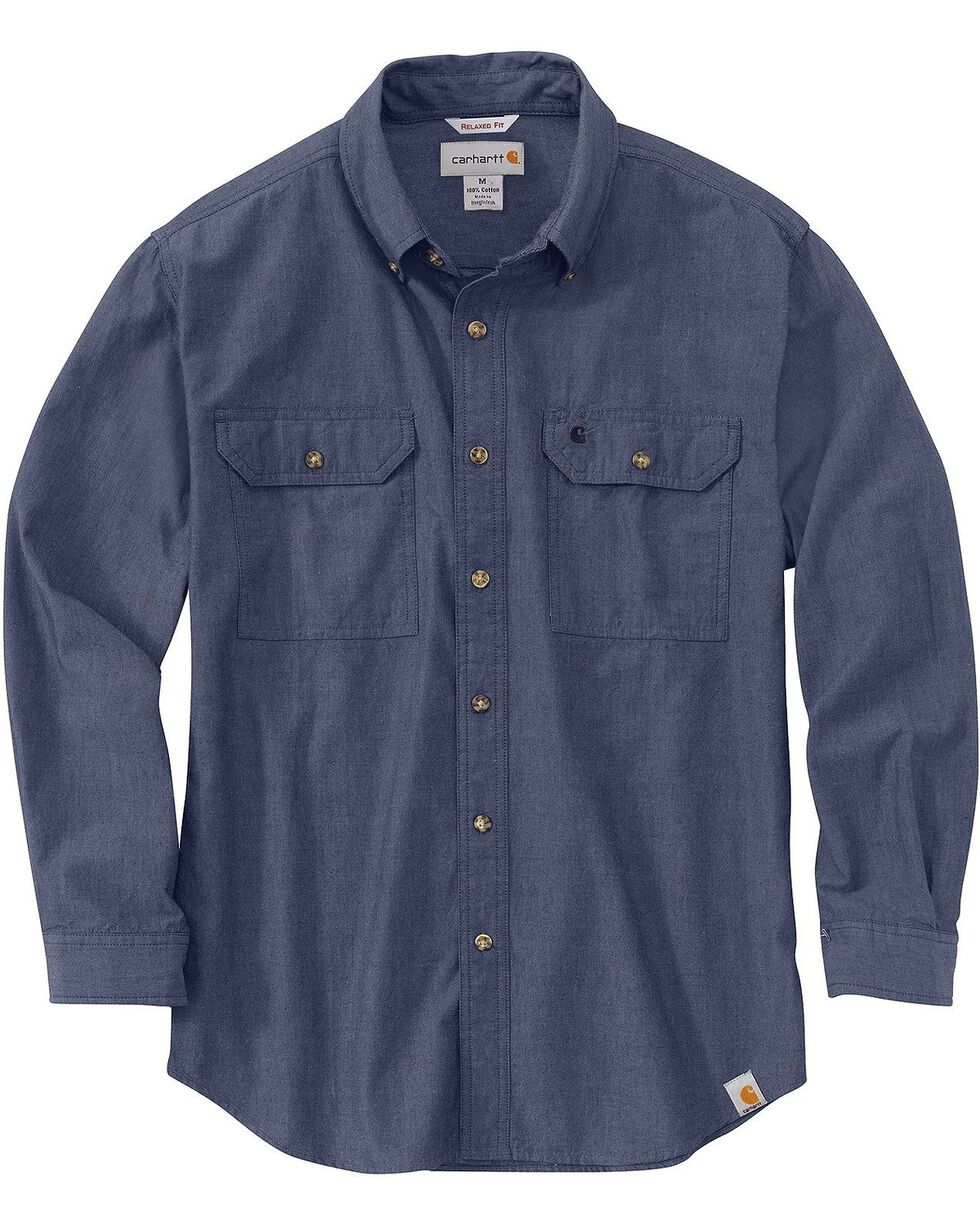 Carhartt Fort Long Sleeve Shirt, Denim, hi-res