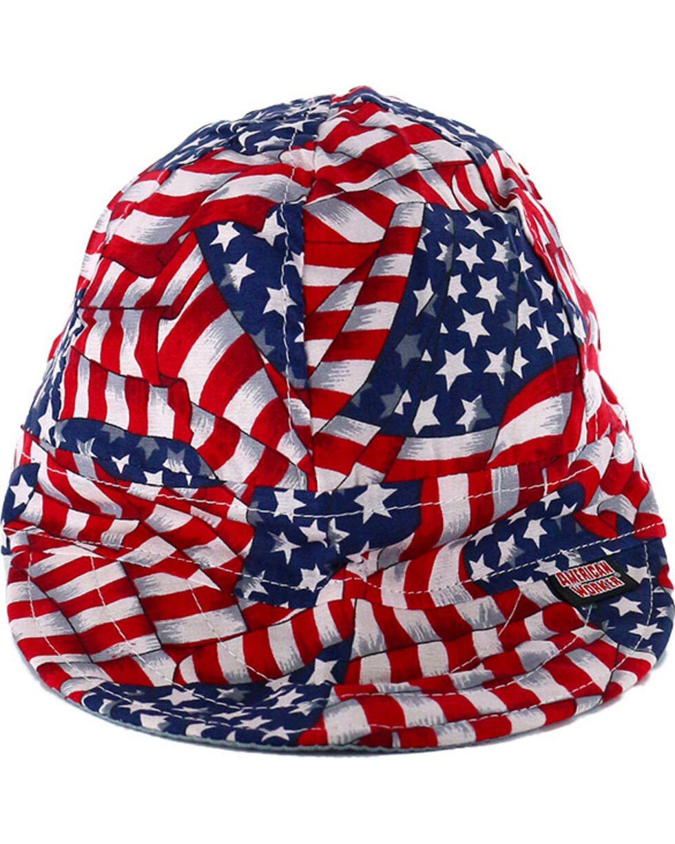 American Worker Men's USA Flag Welding Cap, Red/white/blue, hi-res