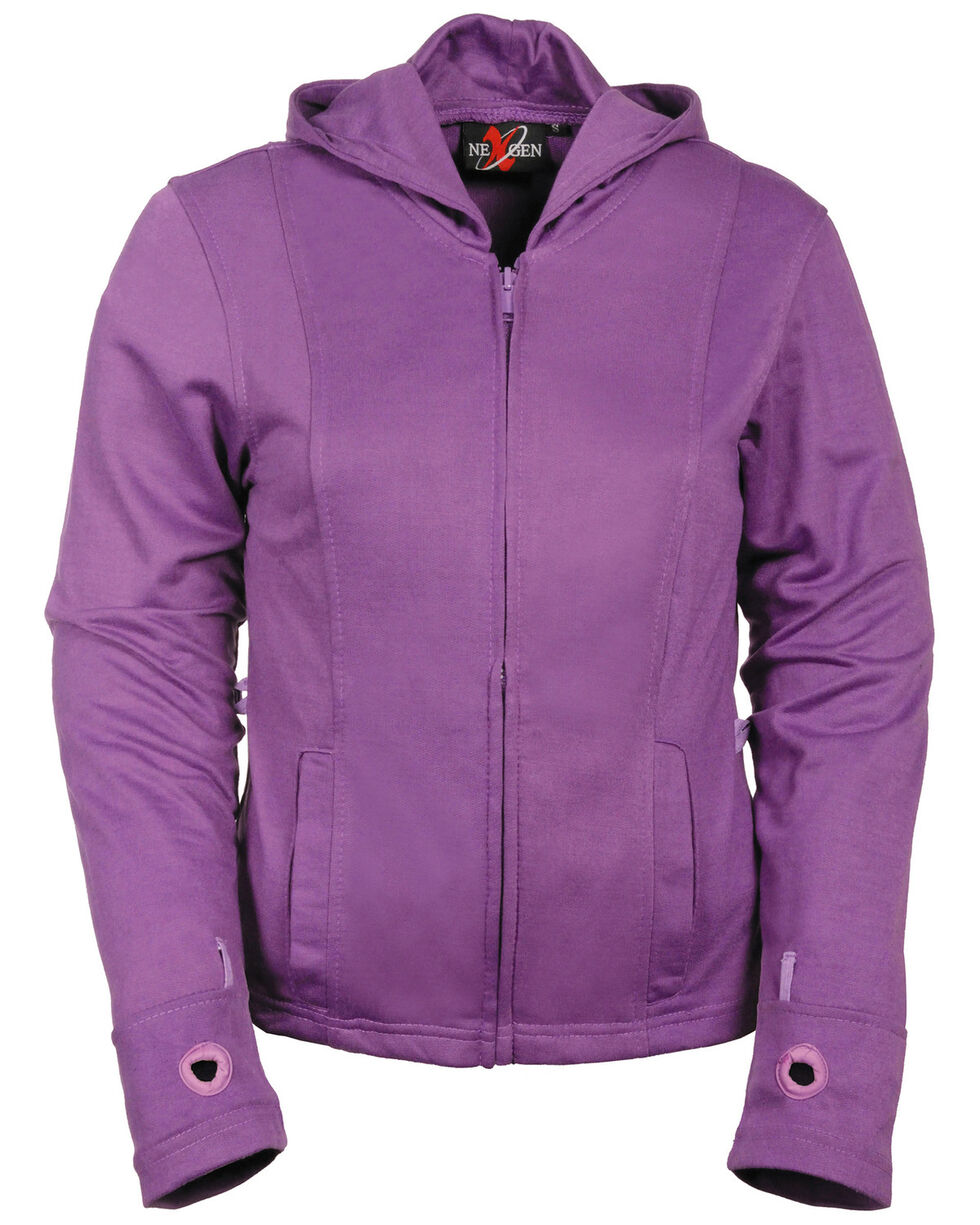 Milwaukee Leather Women's 3/4 Jacket With Reflective Tribal Decal - 5X, Black/purple, hi-res