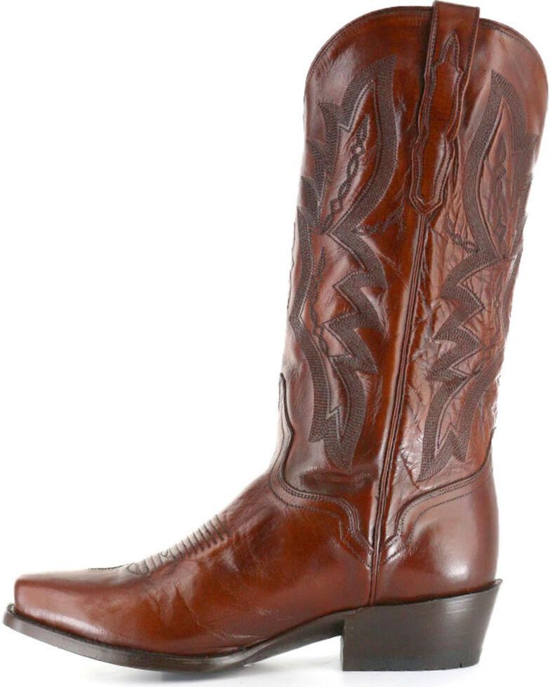 El Dorado Men's Square Toe Vanquished Calf Western Boots, Tan, hi-res