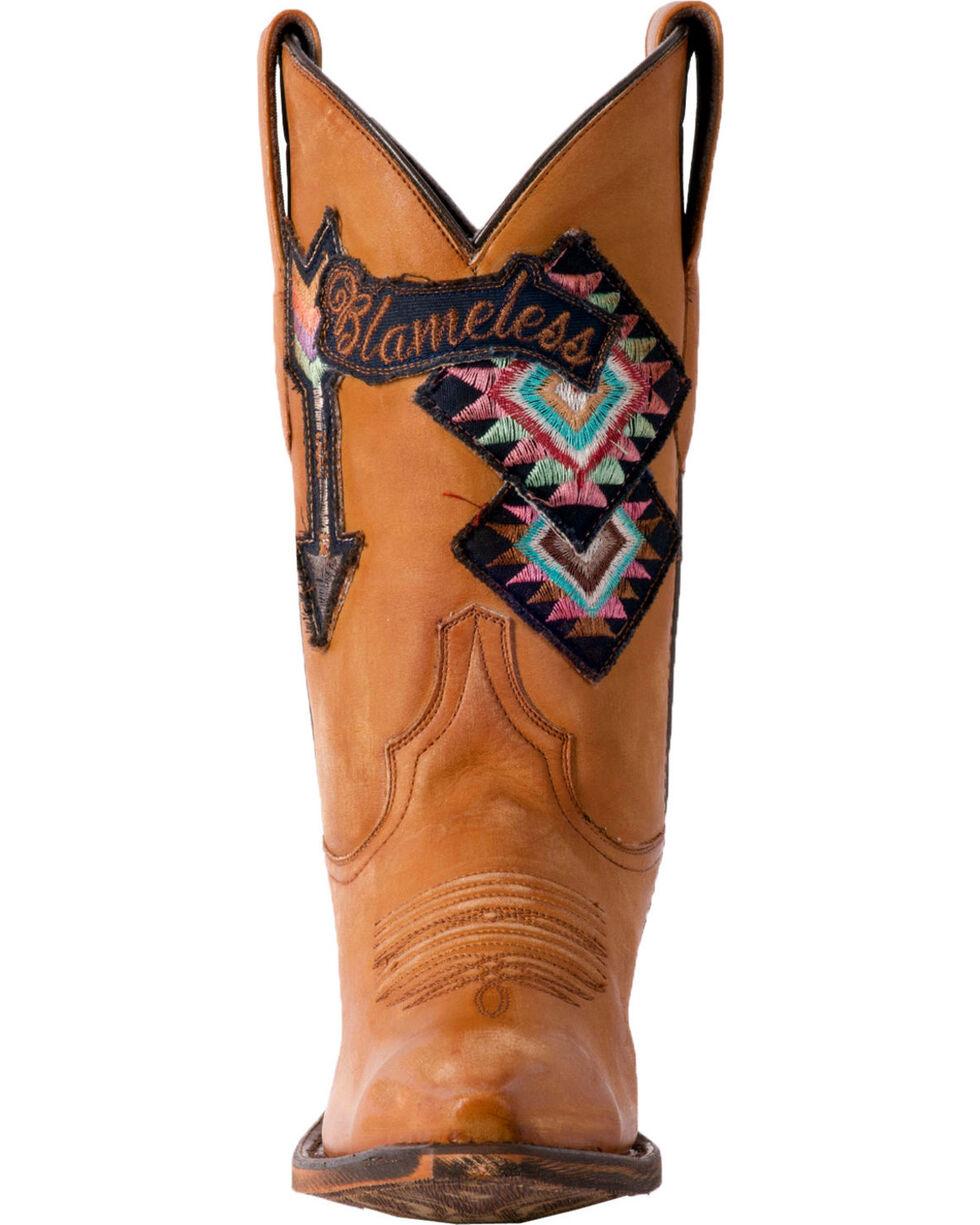 Laredo Women's Eccentric Blameless Arrow Cowgirl Boots - Snip Toe, Tan, hi-res