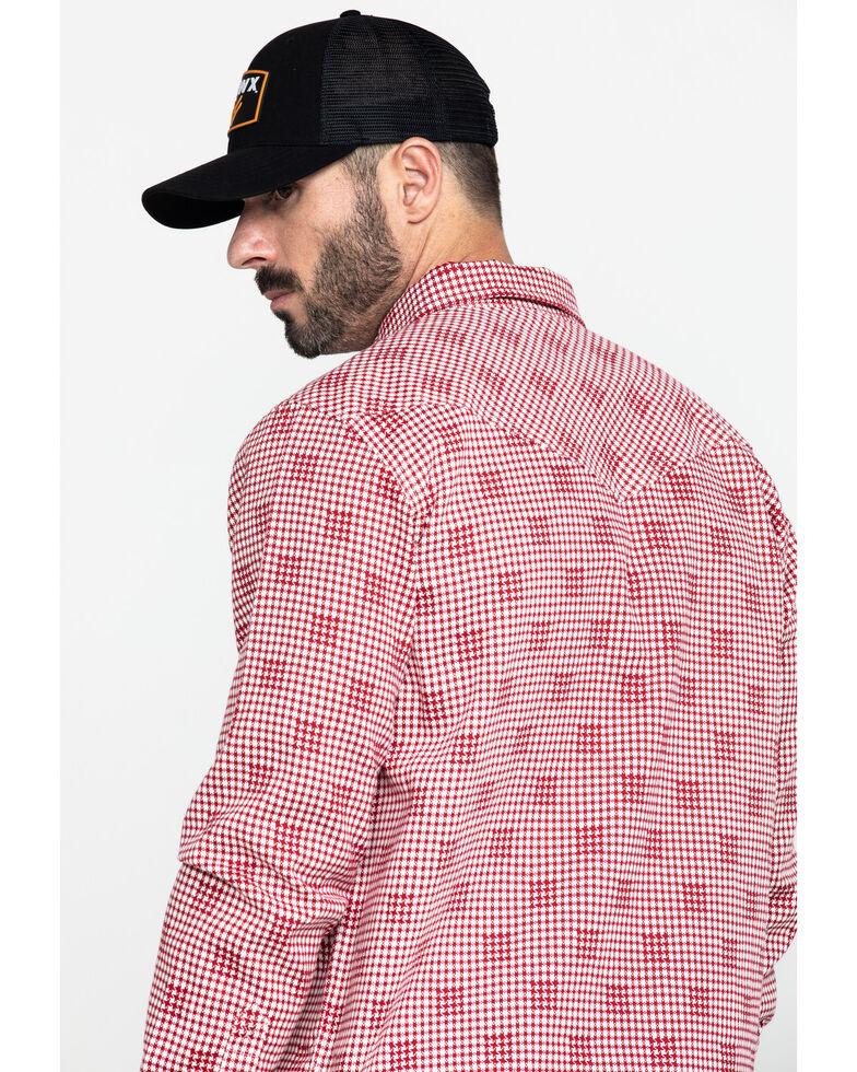 Cody James Men's FR Geo Print Long Sleeve Work Shirt - Tall, Red, hi-res