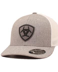 Ariat Men's Grey Center Logo Patch Flex Fit Mesh Cap , Grey, hi-res
