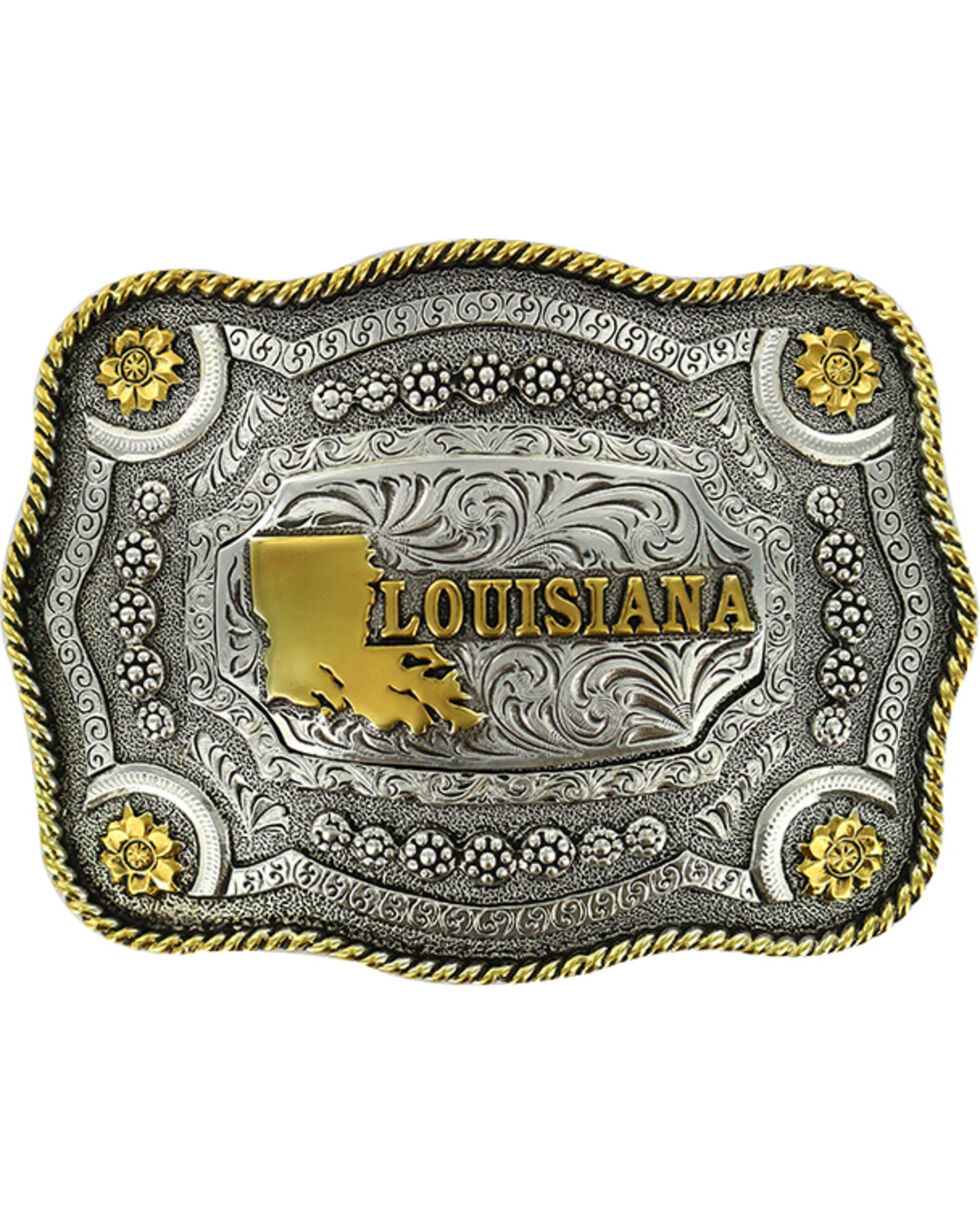 Cody James® Dual Tone Louisiana Buckle, Multi, hi-res