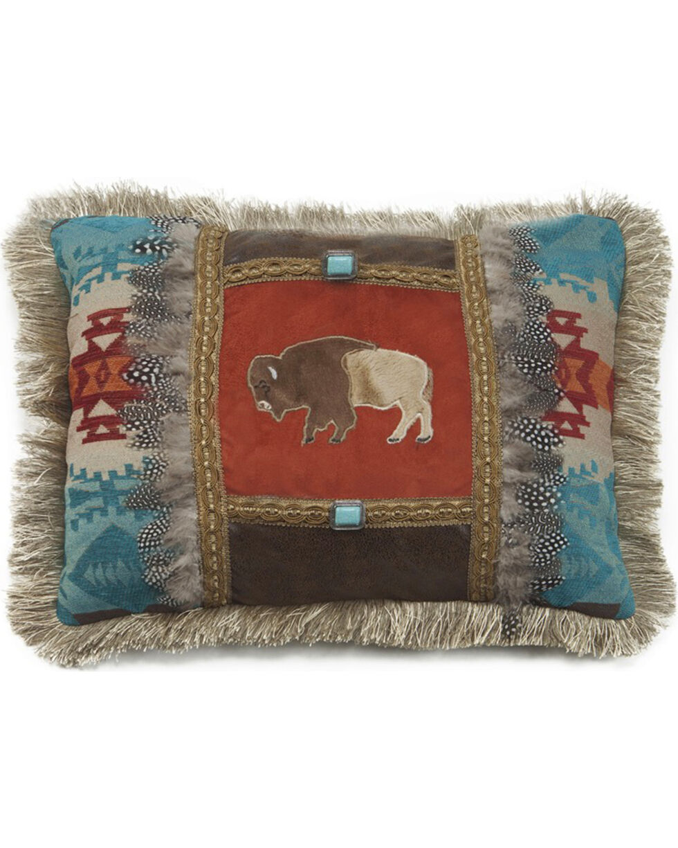 Carstens Feather Buffalo Pillow, Red, hi-res