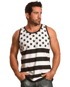 Cody James® Men's Stars And Stripes Tank, Black, hi-res