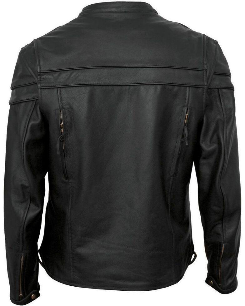 Interstate Leather Scooter Jacket - XL, Black, hi-res