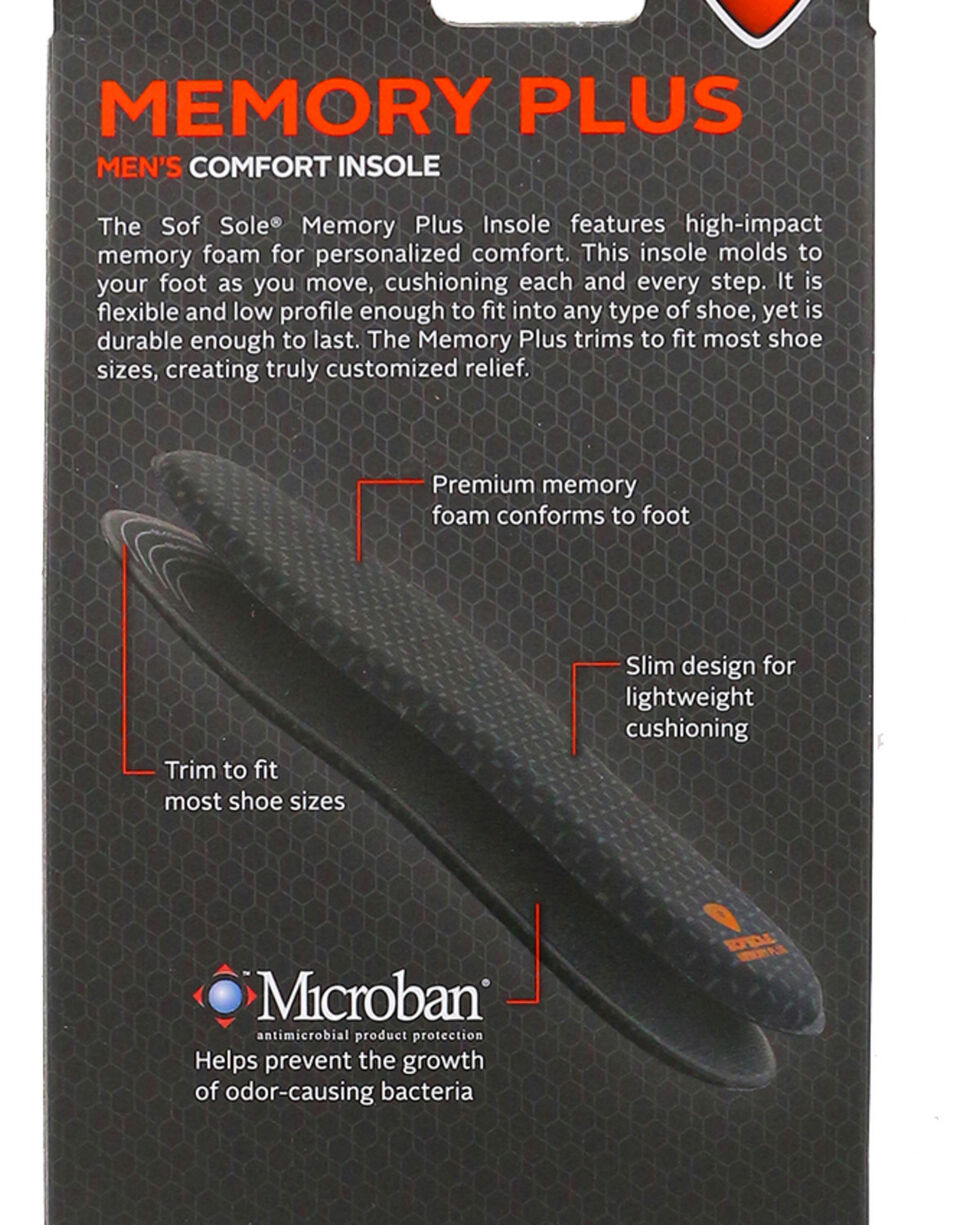 SofSole Men's Memory Plus Comfort Insoles, No Color, hi-res