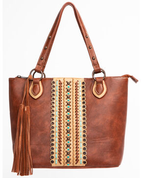 Blazin Roxx Concealed Carry Studded Tote, Brown, hi-res