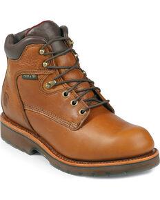 "Chippewa Waterproof 6"" Lace-Up Work Boots - Steel Toe, Tan, hi-res"