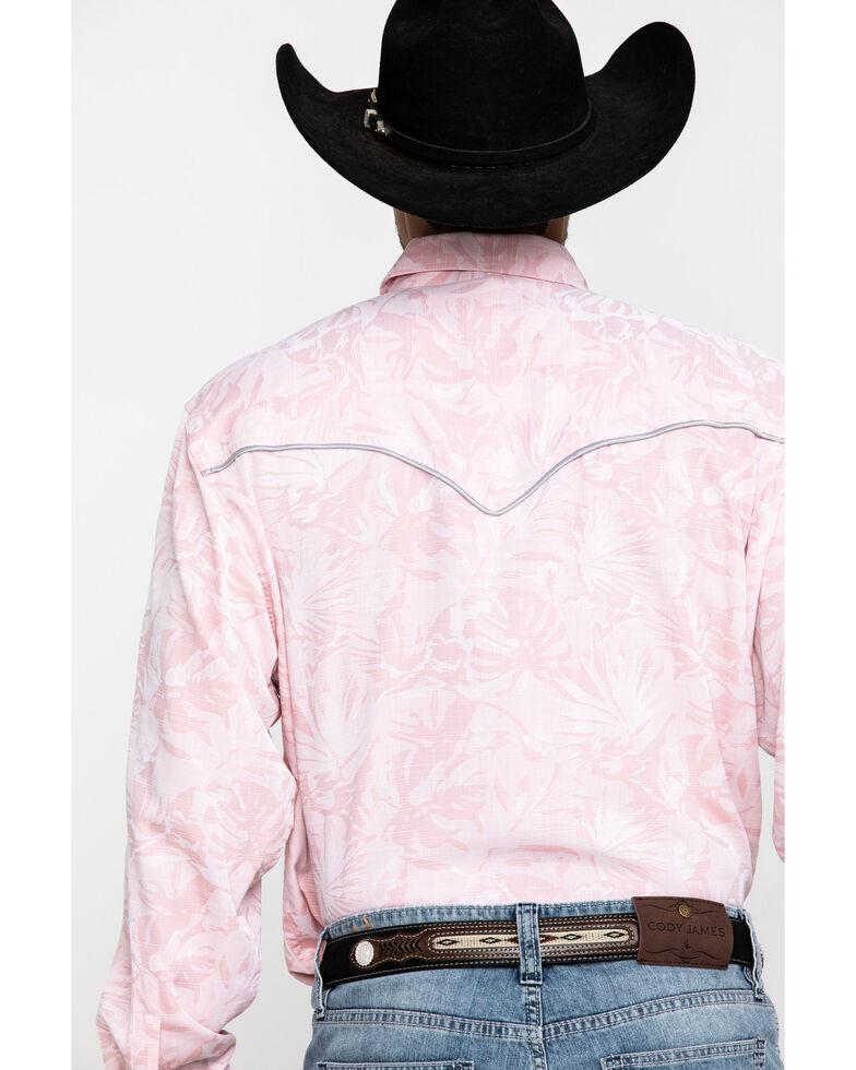 Resistol Men's Pink Floral Print Long Sleeve Western Shirt , , hi-res