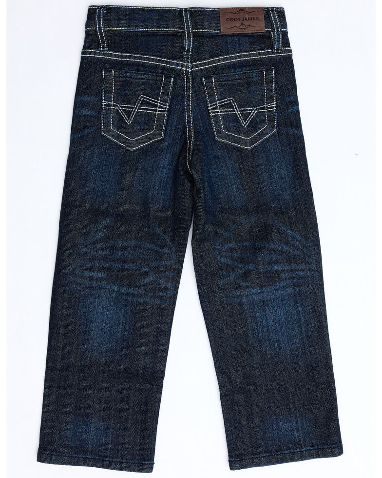 Cody James Boys' 4-8 Night Hawk Stretch Relaxed Bootcut Jeans , Blue, hi-res
