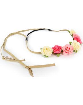 Shyanne® Women's Multi-Colored Flower Crown Headband, Pink, hi-res