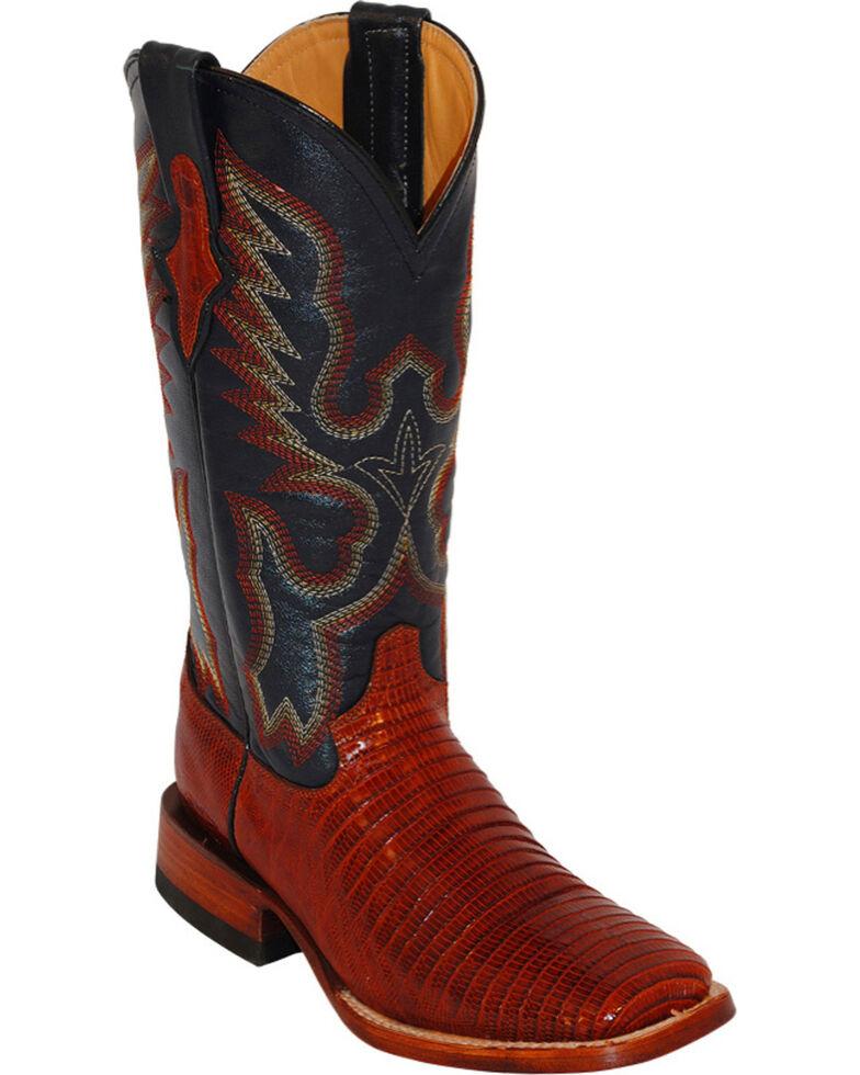 Ferrini Women's Teju Lizard Exotic Western Boots, Peanut, hi-res