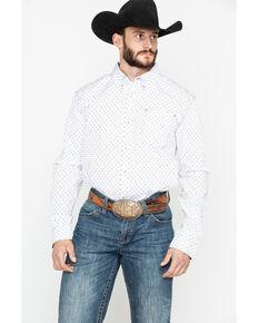 Cody James Core Men's Rock Salt Geo Print Long Sleeve Western Shirt , White, hi-res