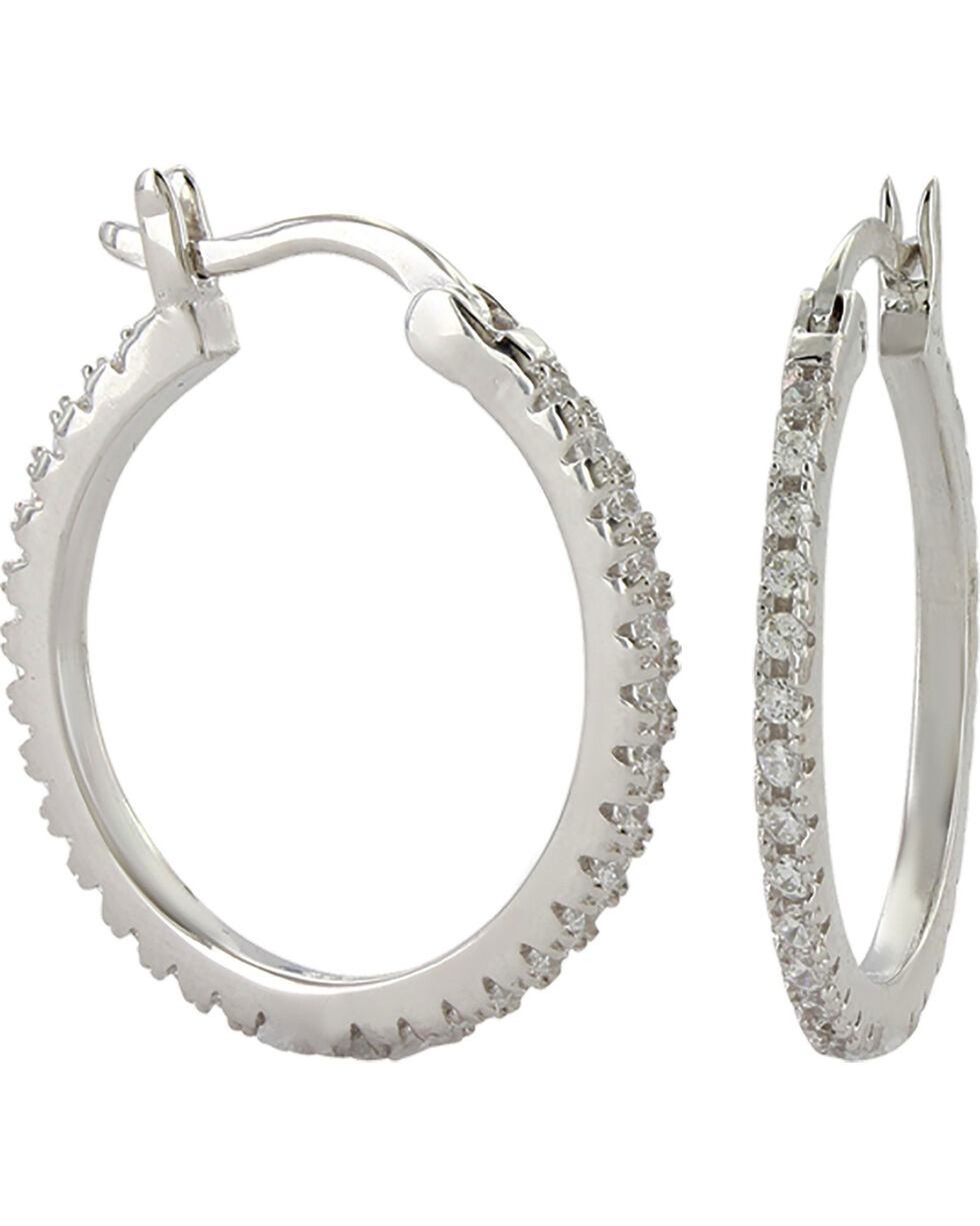 Montana Silversmiths Women's Silver Classic Hoop Earrings , Silver, hi-res