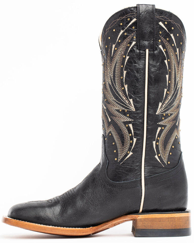 Shyanne Women's Studded Black Western Boots - Wide Square Toe, Black, hi-res