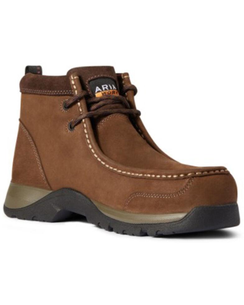 Ariat Women's Edge Lite Work Boots - Composite Toe, Brown, hi-res