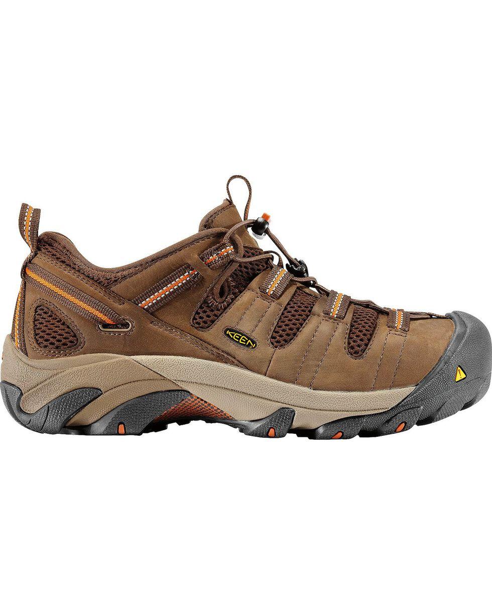 Keen Footwear Men's Atlanta Cool Steel Toe WP Work Shoes, Forest Green, hi-res