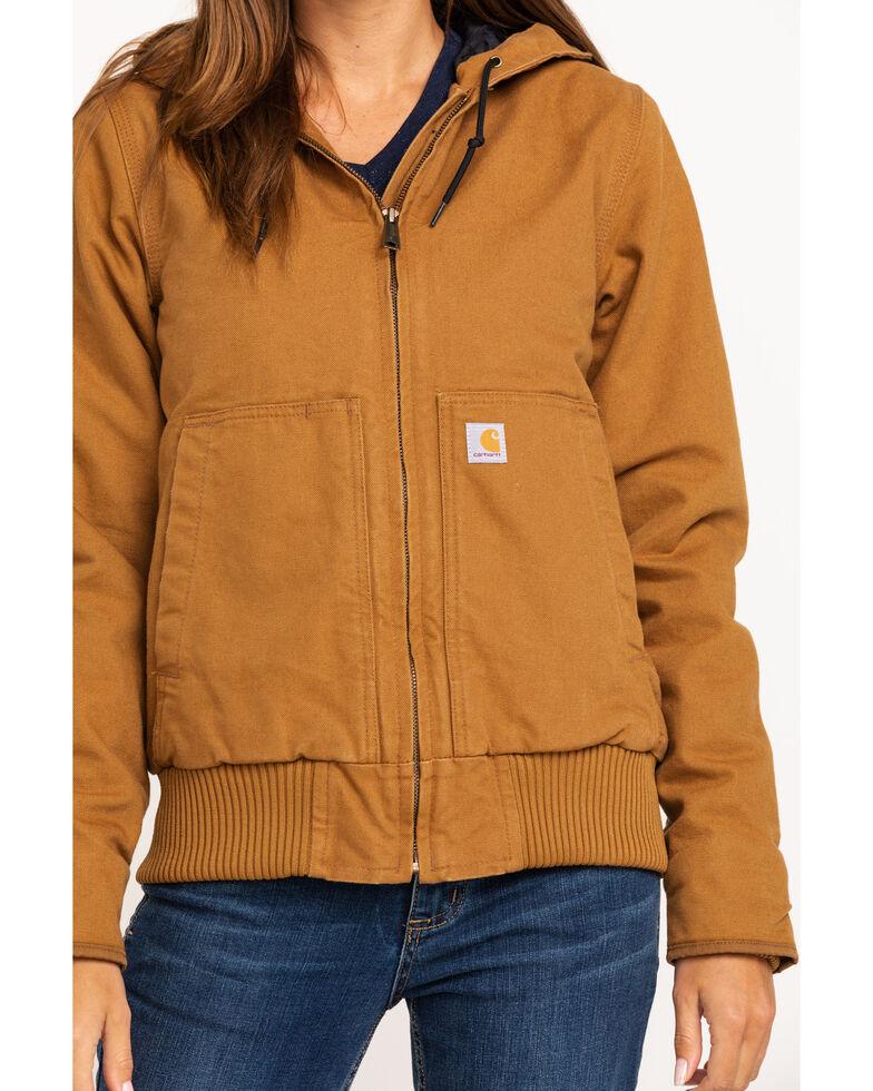 Carhartt Women's Sandstone Quilted-Flannel Active Jacket, Brown, hi-res