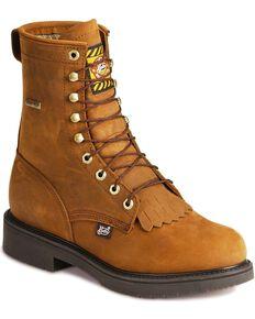 "Justin Men's 8"" Gore Tex Waterproof  Work Boots, Aged Bark, hi-res"