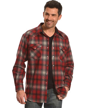 Pendleton Men's Red/Grey Canyon Ombre Long Sleeve Shirt, Red, hi-res