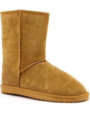 """Lamo Women's 9"""" Classic Suede Boots, Chestnut, hi-res"""