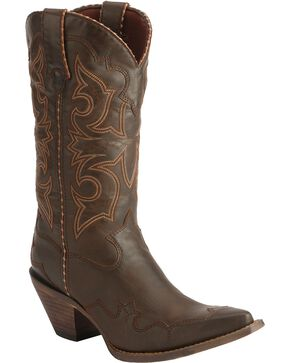 Durango Women's Rock-n-Scroll Western Boots, Brown, hi-res