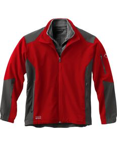 Dri Duck Men's Baseline Softshell Jacket - 3X & 4X, Red, hi-res