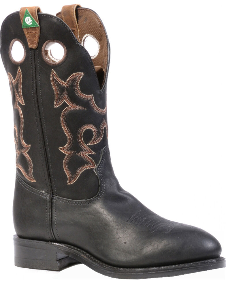 Boulet Everest Black Western Work Boots - Steel Toe, Black, hi-res
