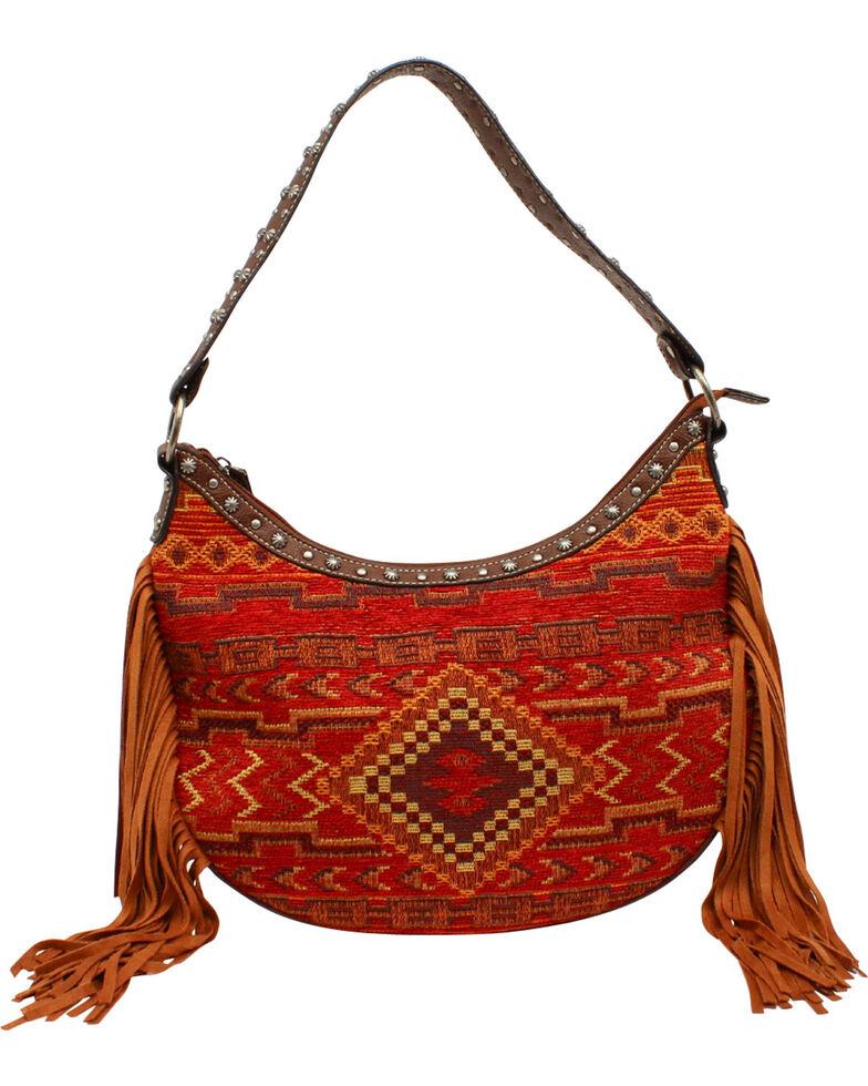 Blazin Roxx Women's Indian Blanket Shoulder Bag, Multi, hi-res
