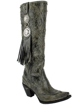 Lane Women's Conchita Western Boots - Snip Toe , Black, hi-res