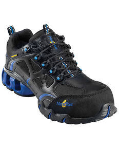 Nautilus Men's Black Nylon Microfiber Athletic Work Shoes - Composite Toe, Black, hi-res
